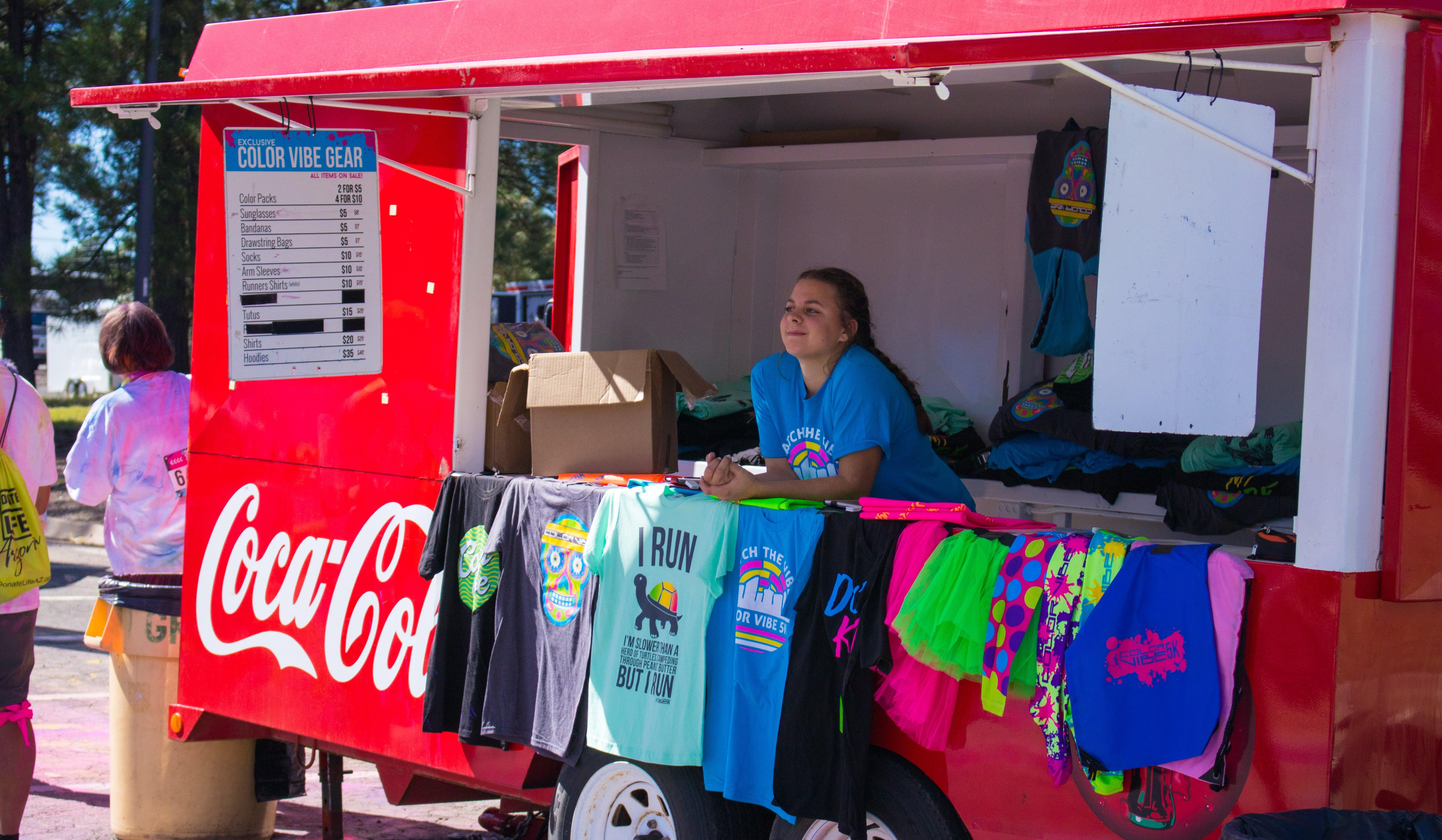 Free stock photo of clothes, coca cola, colour run, event