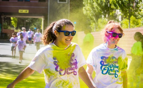 Free stock photo of candid, colour, colour run