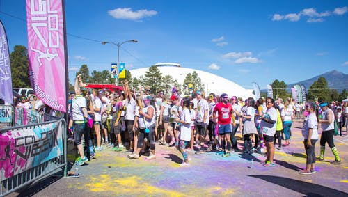 Free stock photo of 5k, blue skies, colour run