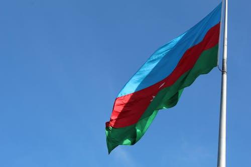 Fotos de stock gratuitas de asta de bandera, azerbaiyán, bandera