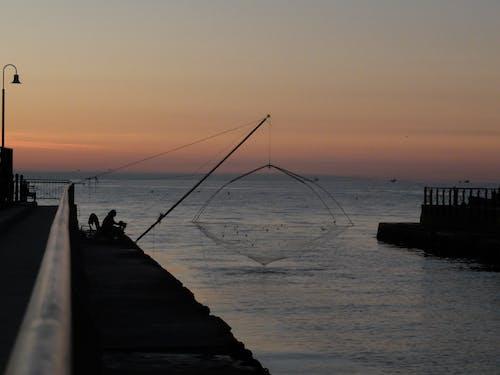 Photos gratuites de matin, pêcheur, seul
