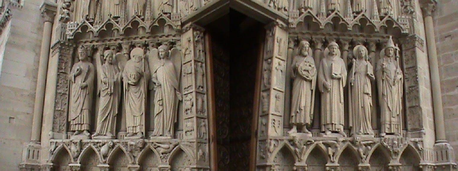 Free stock photo of paris, church, entrance, architectural detail