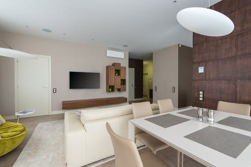 Stylish apartment with dining room