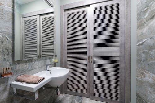 Interior of stylish bathroom in modern apartment