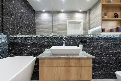Luxury bathroom in contemporary apartment