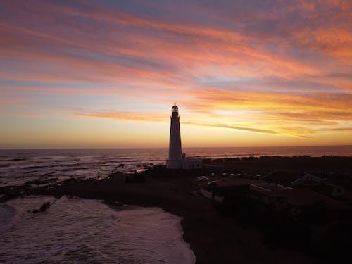 Free stock photo of Atardecer, beach, drone camera