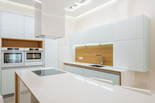 Minimalistic interior of stylish kitchen