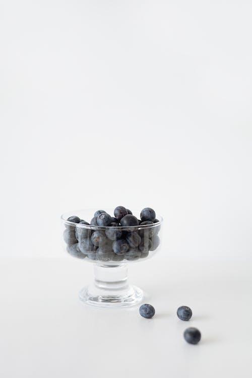 Blackberries in Clear Glass Bowl