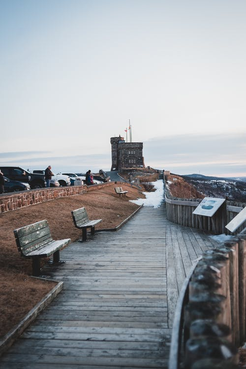 Boardwalk leading to Cabot tower