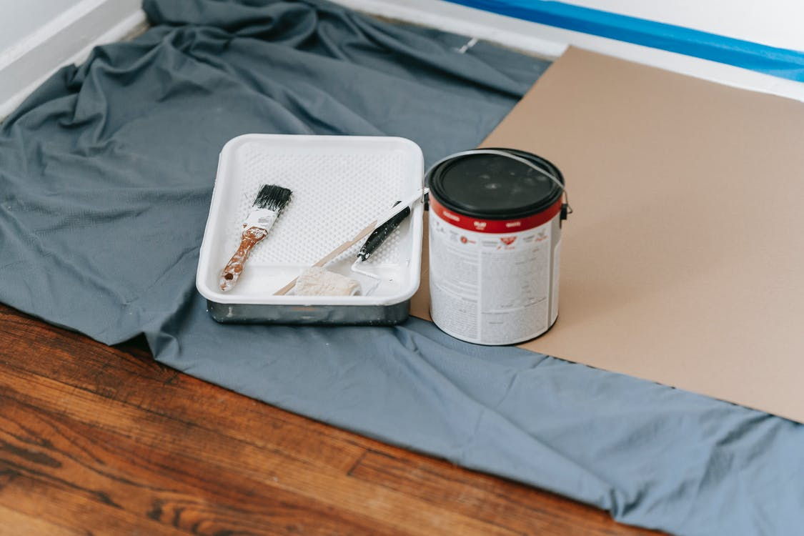 Painting Materials On Floor
