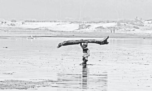 Free stock photo of black and white, Ganga, hard work, Haridwar