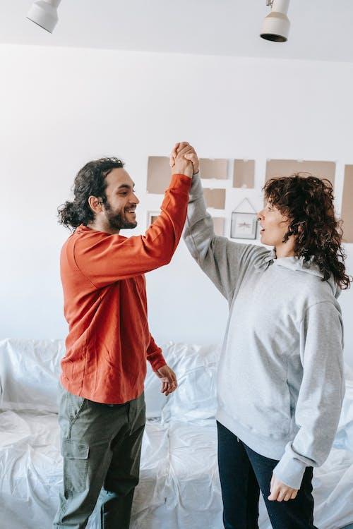 Couple Doing High Five