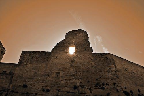 Free stock photo of old castle, stones, sun