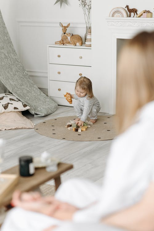 Free stock photo of adult, baby, bed