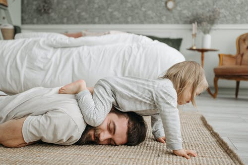 Free stock photo of affection, baby, bed