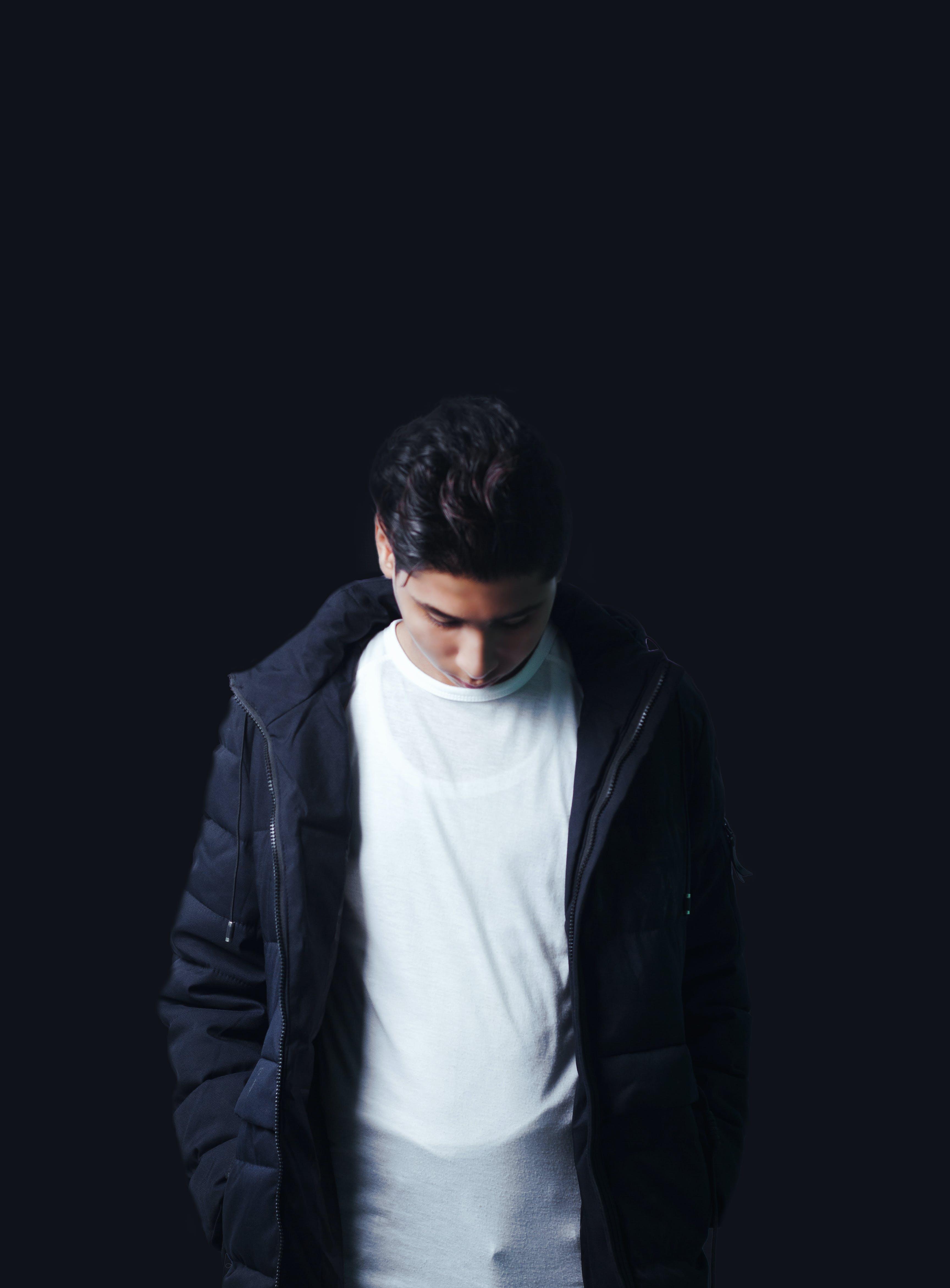 Men's Black Zippered Jacket