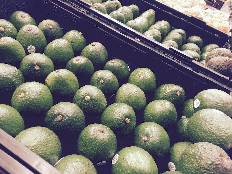 avocado, close-up, color
