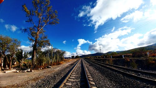 naturaleza, tren içeren Ücretsiz stok fotoğraf