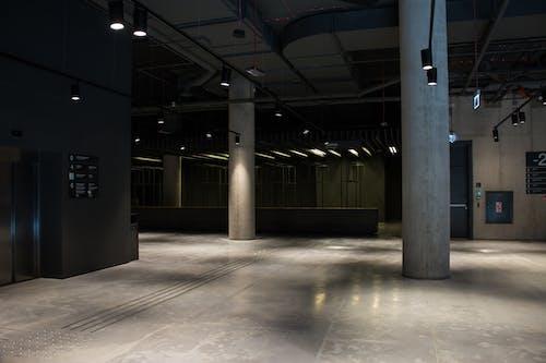 Free stock photo of #architecture, #concrete, #empty, #lights