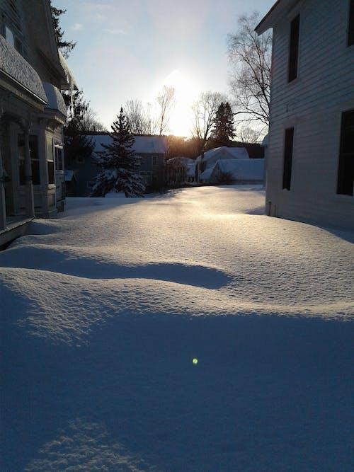 Free stock photo of snow cover, sunrise