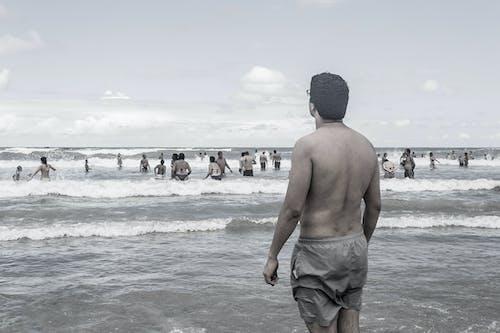 Imagine de stoc gratuită din apă, bărbați, cer