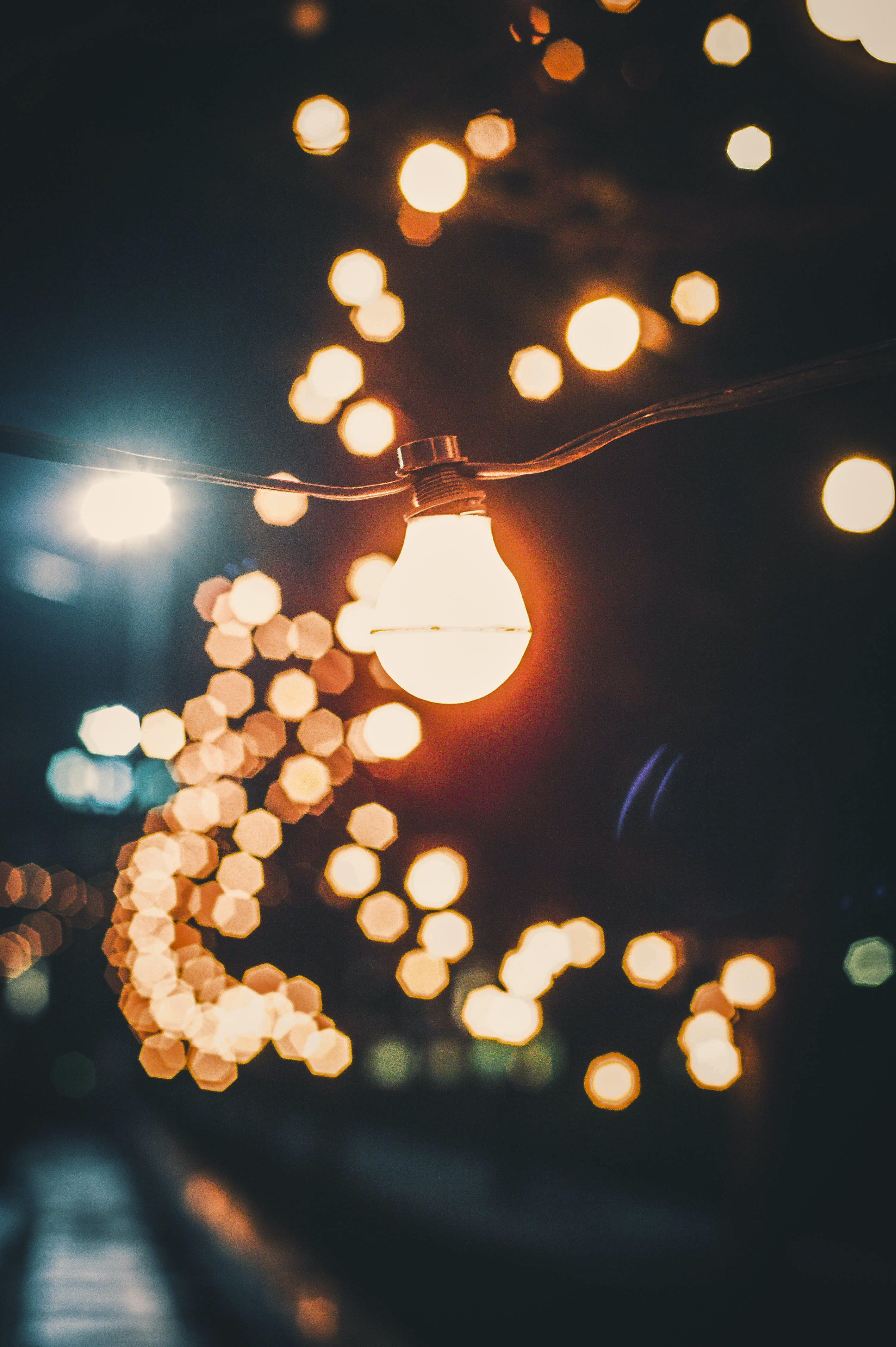Free stock photo of lights, night, dark, abstract