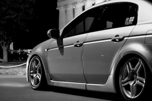 Fotobanka sbezplatnými fotkami na tému acura, autá, automobilové preteky, čierna a biela