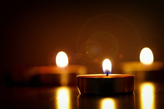 Close Up Photography Of Lighted Candles