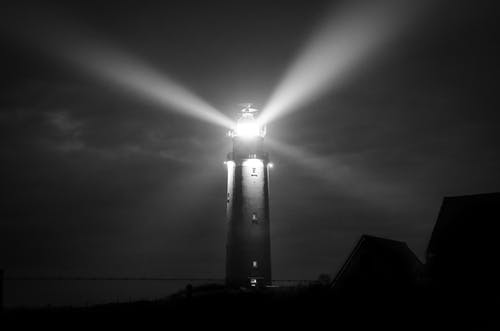 Gray Scale Photography of Lighthouse