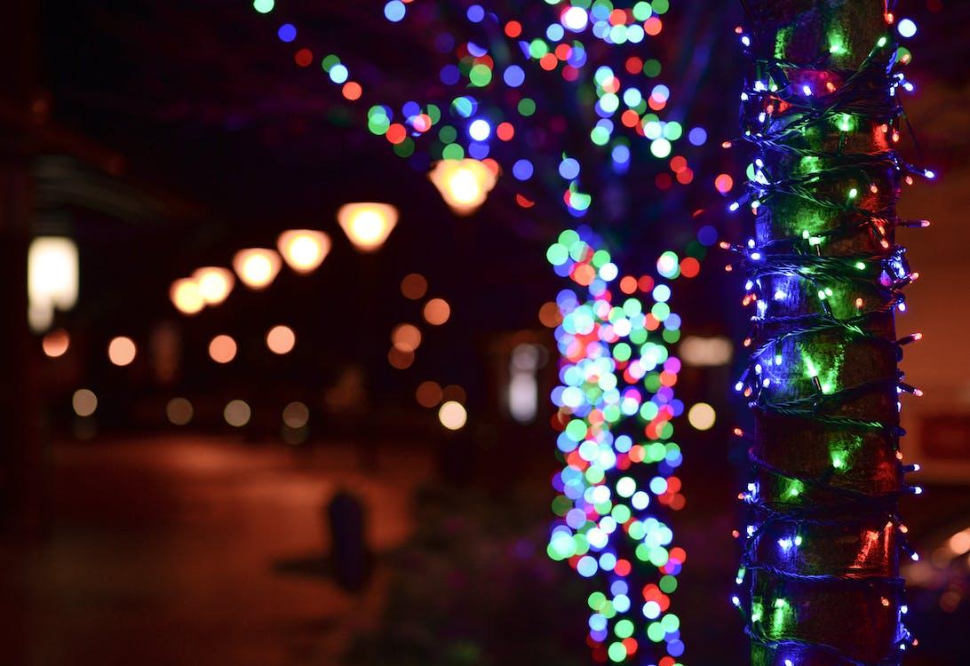 거리, 다채로운, 반짝반짝 빛나는