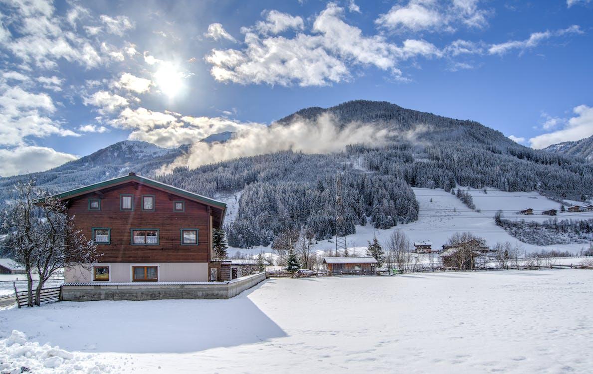 alpský, hora, idylický