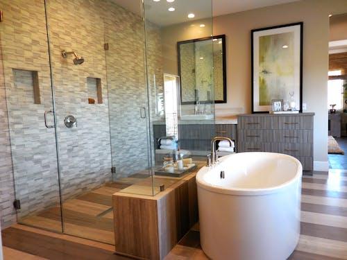 Free stock photo of bathroom, bathtub, shower