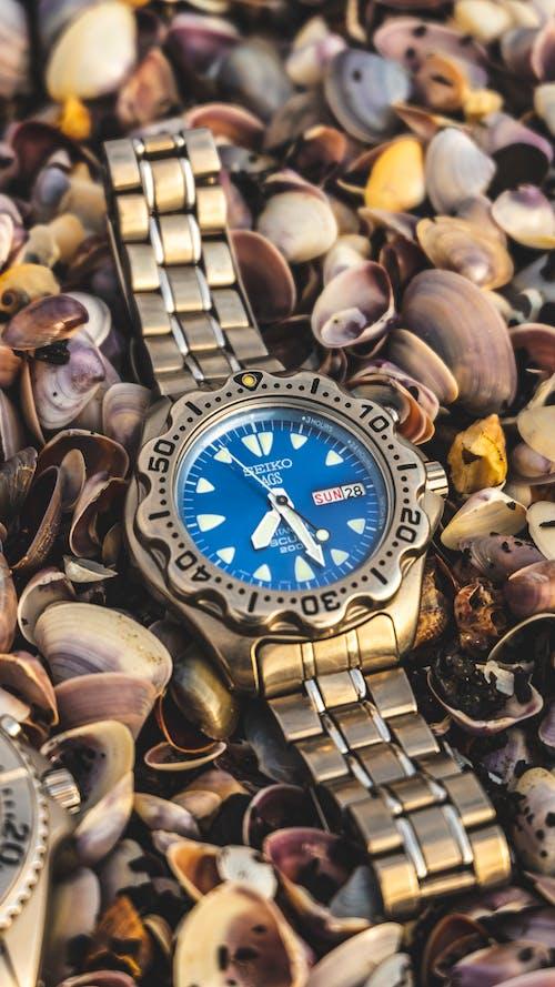 Close-Up Shot of an Analog Wristwatch