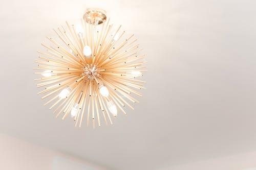 White and Brown Light Fixture