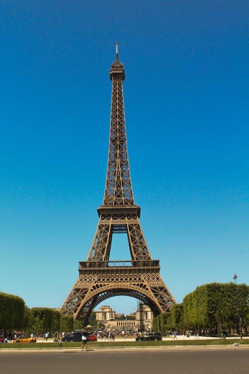 Full Shot of Eiffel Tower in Paris