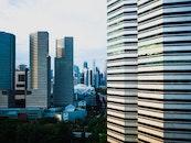 city, skyline, buildings