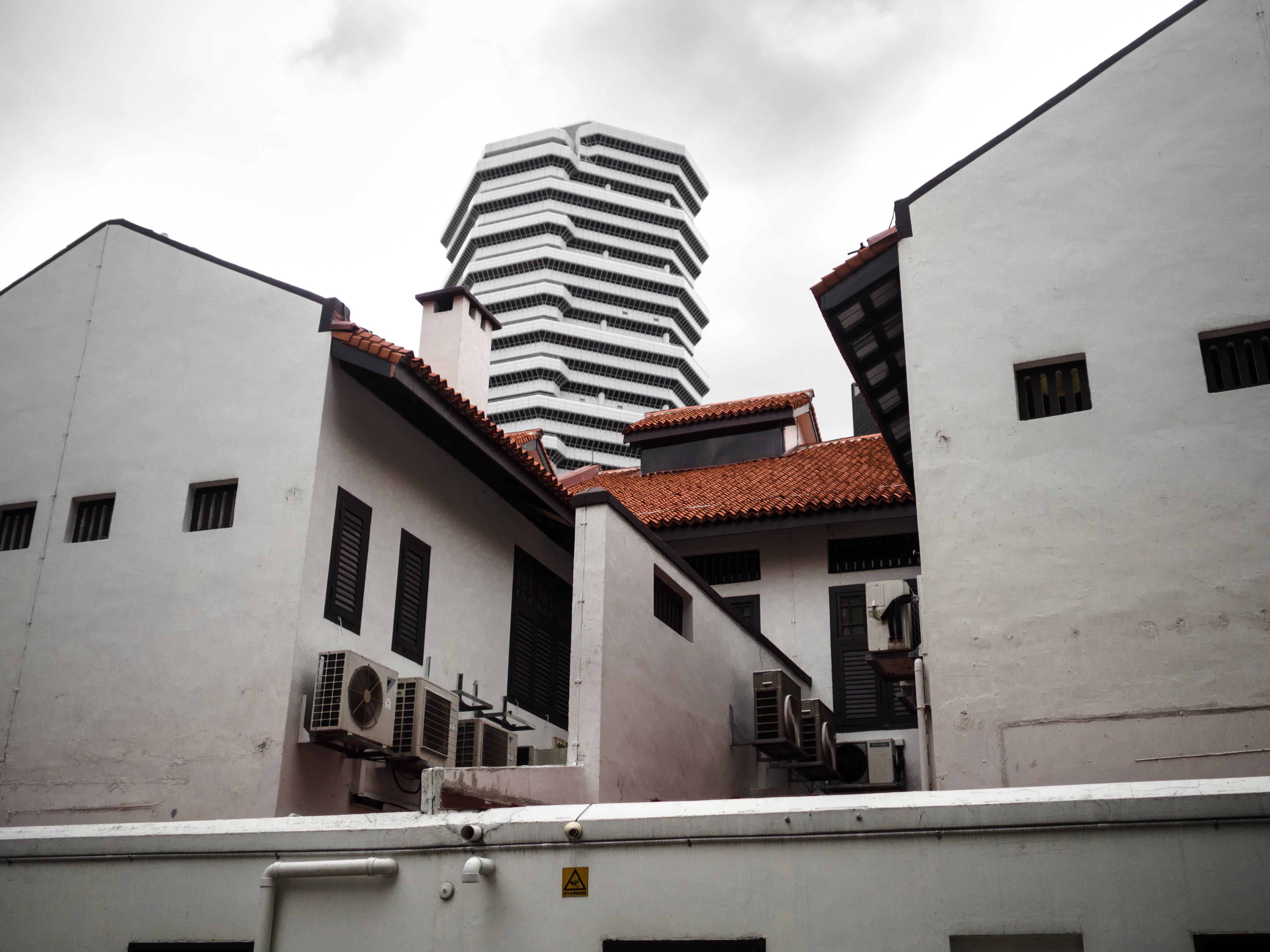 Free stock photo of building, grey sky, singapore