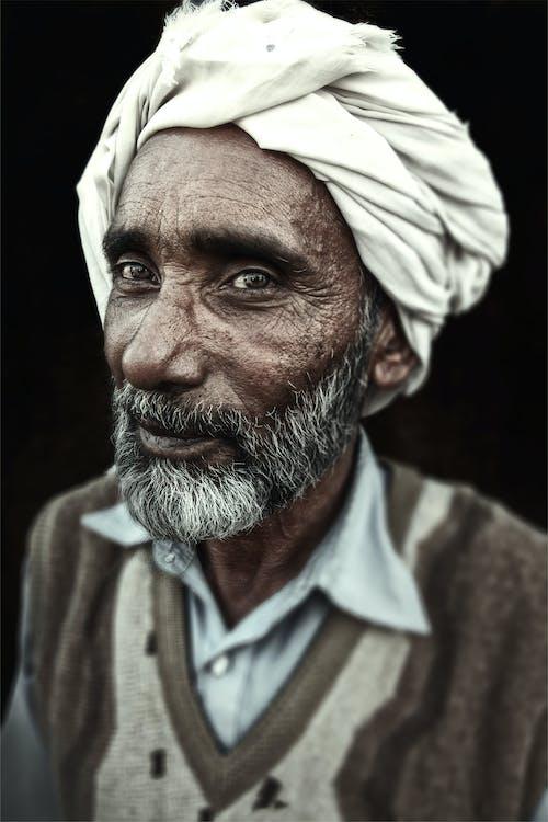 Senior Man with White Turban