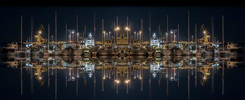 夜間攝影, 思考, 海港, 船 的 免費圖庫相片