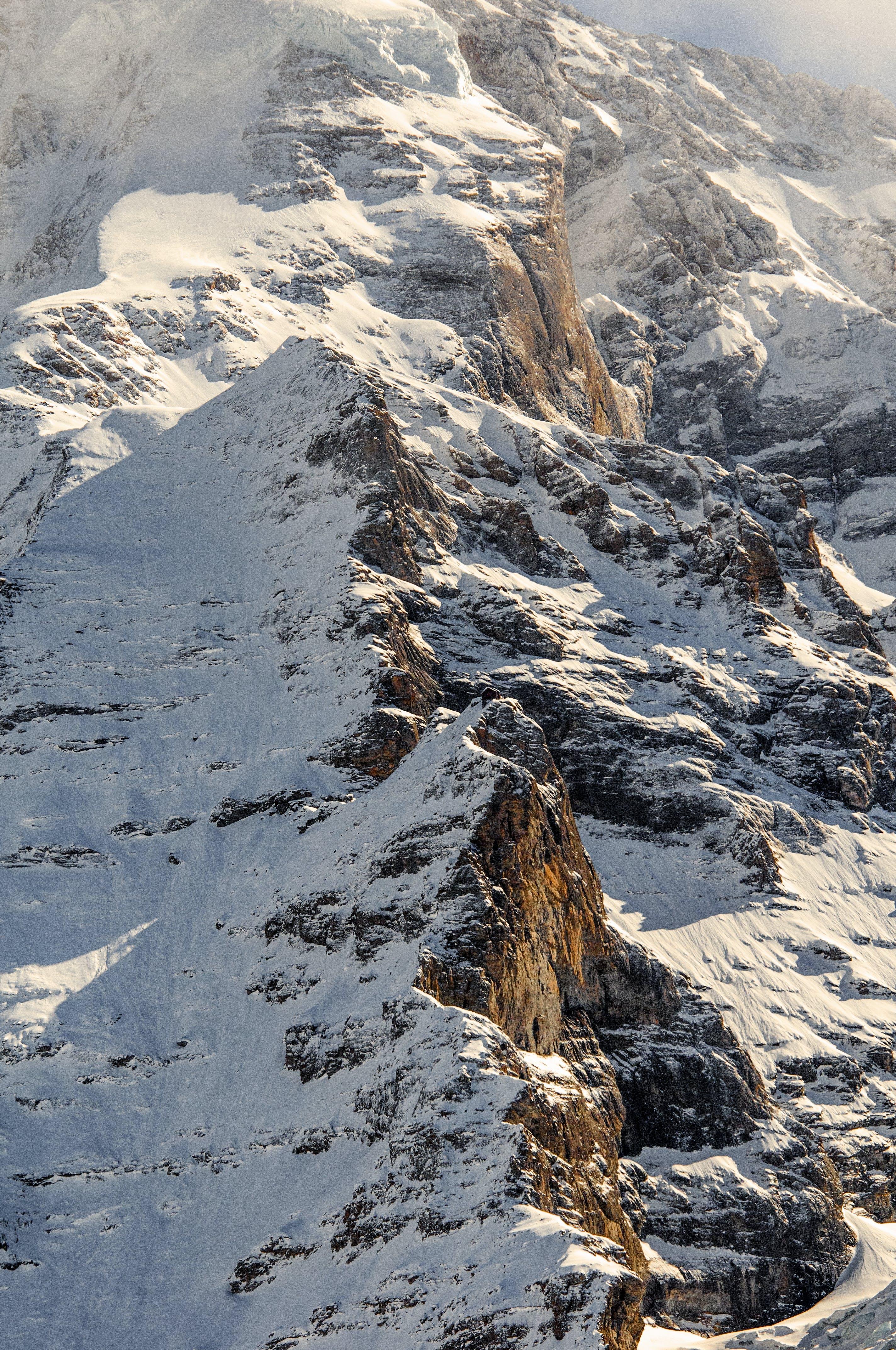 Scenic View of Snowy Mountain Range