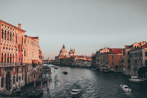 Mixed Used Buildings Along Grand Canal