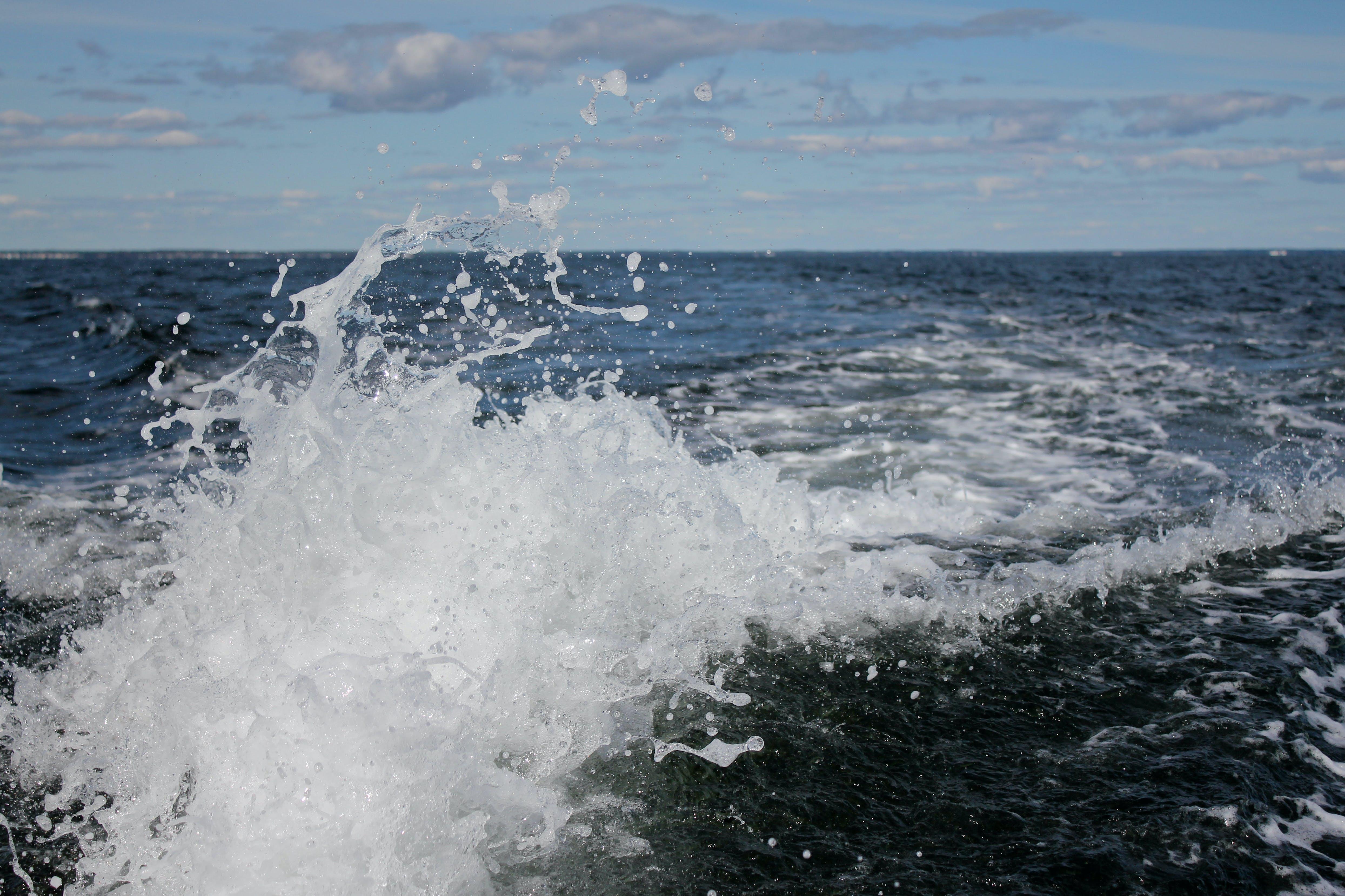 Fotobanka sbezplatnými fotkami na tému kývať, more, oceán, šplechnúť
