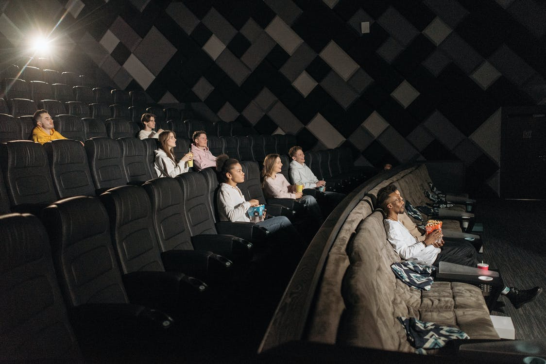 Photo of the Audience in a Movie Theater