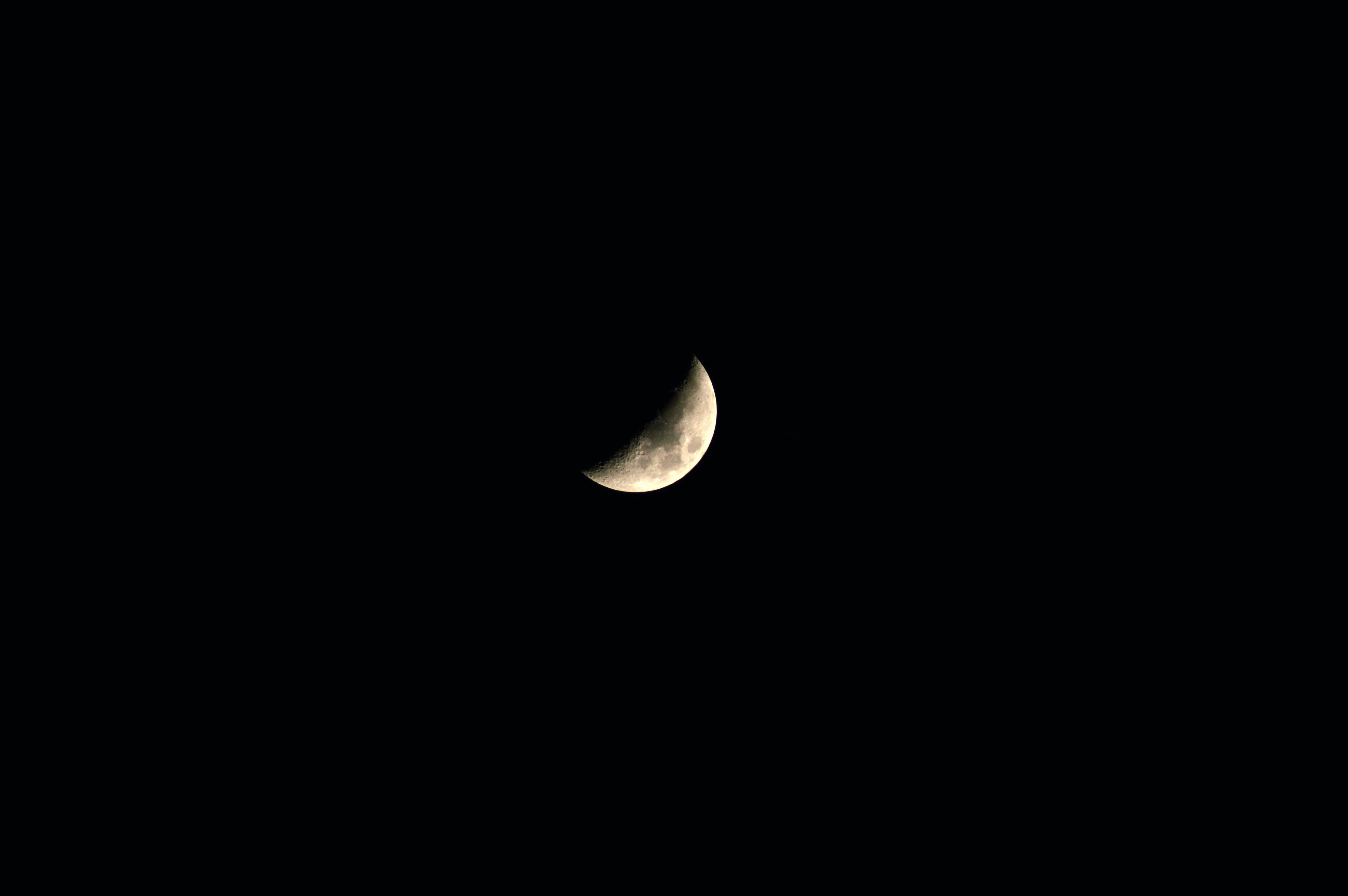 Free stock photo of crescent moon