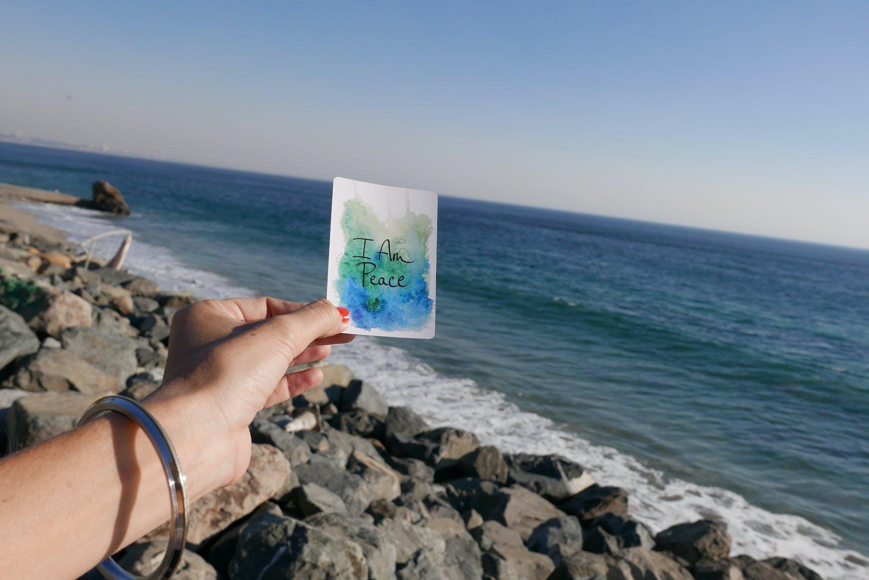 I Am Peace Watercolor Card