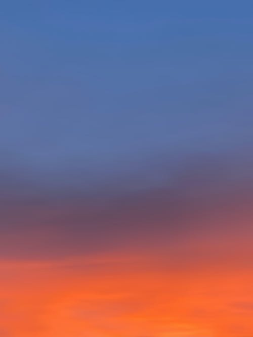 Colorful sky in evening time