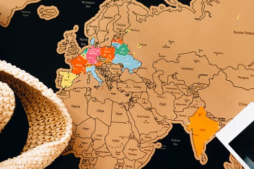 White and Brown Map Illustration