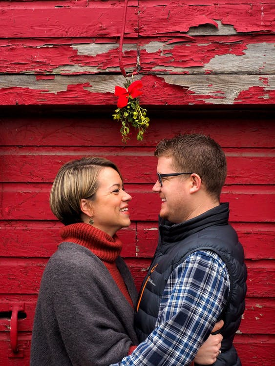 christmas, country, couple