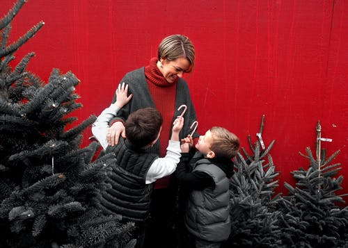 Gratis lagerfoto af børn, familie, jul, julestok