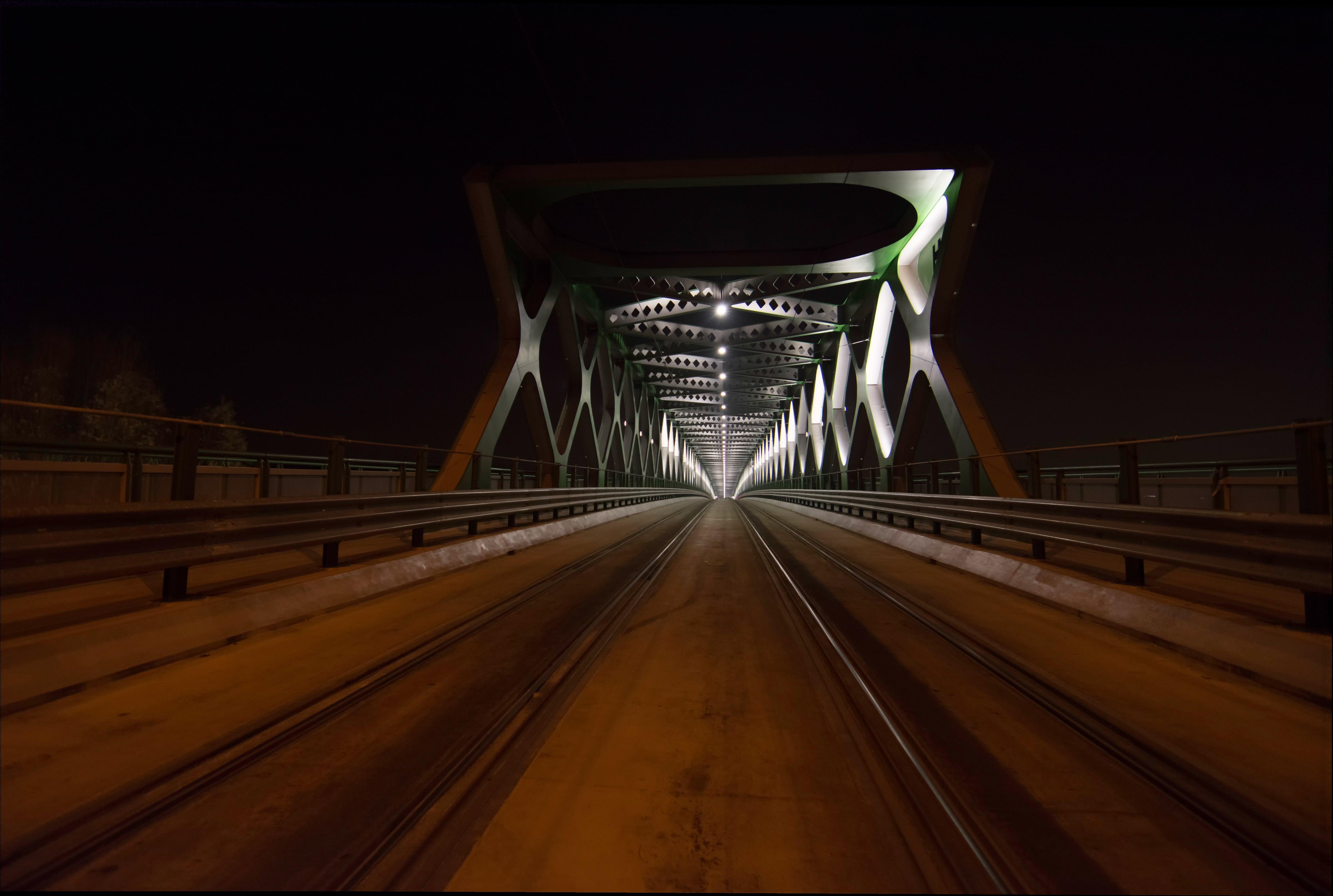 Free stock photo of architecture, bridge, night photography